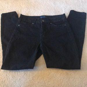 Women's black denim stretch pant